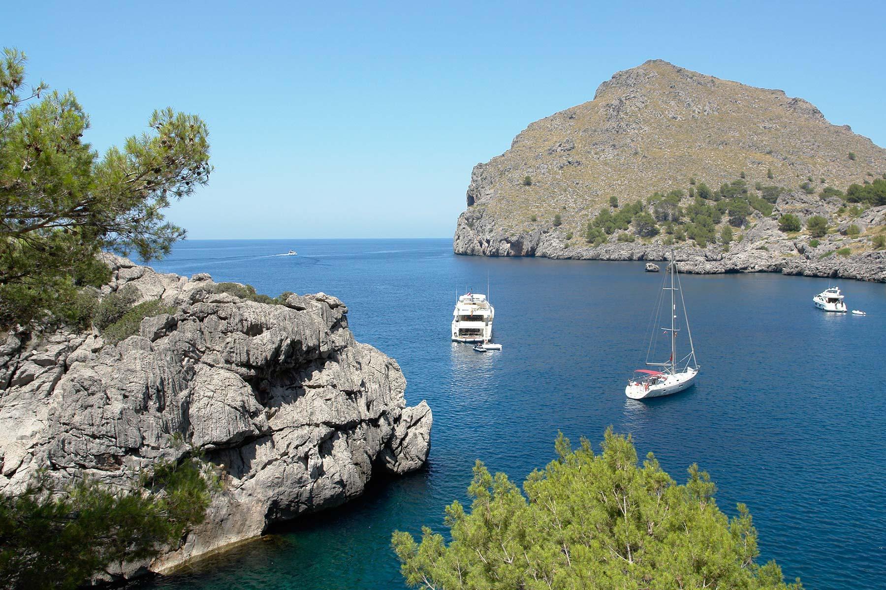 Gebiete zum Ankern auf Mallorca